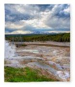 Norris Geyser Basin Fleece Blanket