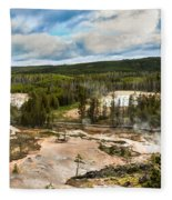 Norris Geyser Basin Fleece Blanket