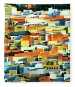 North African Townscape Fleece Blanket