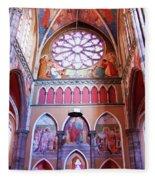North Aisle - Sanctuary In Osijek Cathedral Fleece Blanket