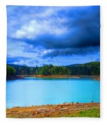 North Alder Lake Fleece Blanket