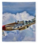 North American P-51 Mustang  Fleece Blanket