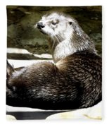 North American River Otter Fleece Blanket