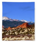 North And South Gateway Rock Fleece Blanket