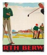 North Berwick, A London And North Eastern Railway Vintage Advertising Poster Fleece Blanket