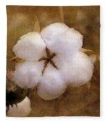 North Carolina Cotton Boll Fleece Blanket