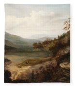 North Carolina Mountain Landscape Fleece Blanket