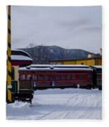 North Conway Nh Scenic Railroad Fleece Blanket