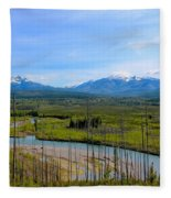 North Fork Flathead River Fleece Blanket