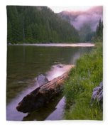 North Fork Of The Clearwater Fleece Blanket