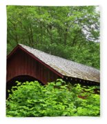 North Fork Yachats Bridge 1 Fleece Blanket