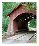 North Fork Yachats Bridge 2 Fleece Blanket