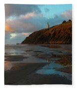 North Head Light Reflections Fleece Blanket
