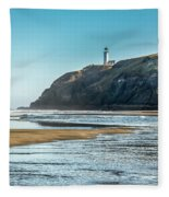 North Head Lighthouse With The Morning Light Fleece Blanket