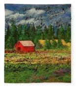 North Idaho Farm Fleece Blanket