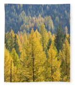 North Idaho Gold Fleece Blanket