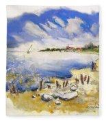 North Of France 02 - The Coast Fleece Blanket