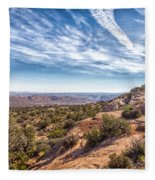North Of Moab Fleece Blanket