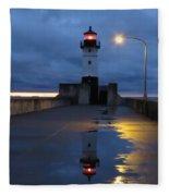 North Pier Reflections Fleece Blanket