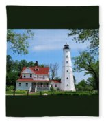 North Point Lighthouse Fleece Blanket