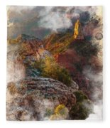North Rim Of The Grand Canyon Fleece Blanket