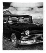 North Rustico Vintage Car Prince Edward Island Fleece Blanket