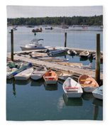 Northeast Harbor Maine Fleece Blanket