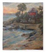 Northeast Sunset Fleece Blanket