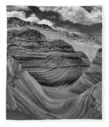 Northern Arizona Desert Swirls Fleece Blanket