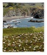 Northern California Coast Scene Fleece Blanket