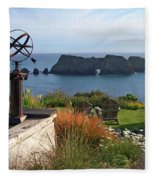 Northern California Coast View Fleece Blanket