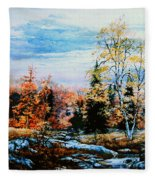 Northern Gold Fleece Blanket