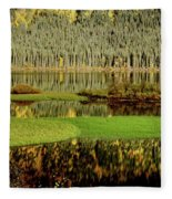 Northern Lake Fleece Blanket