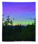 Northern Lights At Mount Pilchuck Fleece Blanket
