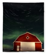 Northern Lights Canada Barn Fleece Blanket