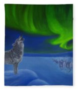 Northern Lights Night Fleece Blanket