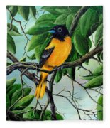 Northern Oriole Fleece Blanket