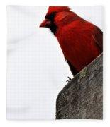Northern Red Cardinal Fleece Blanket