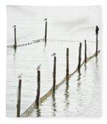 Northern Sea Landscape Fleece Blanket