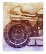 Norton Manx 2 - Norton Motorcycles - 1947 - Vintage Motorcycle Poster - Automotive Art Fleece Blanket