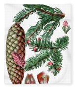 Norway Spruce, Pinus Abies Fleece Blanket