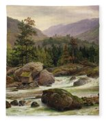 Norwegian Waterfall Fleece Blanket