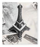 Nostalgia In France Fleece Blanket