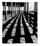 Nostalgic Walk On The Pier Fleece Blanket