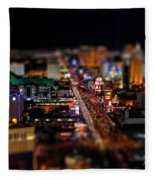 Not Everything Stays In Vegas - Tiltshift Fleece Blanket