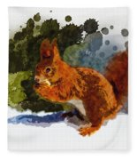 Not Much Goes On In The Mind Of A Squirrel Fleece Blanket
