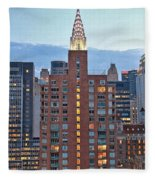 Not The Chrysler Building Nyc Fleece Blanket