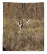 Nothing But White Tails Fleece Blanket