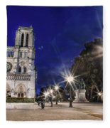 Notre Dame Cathedral Paris 2 Fleece Blanket
