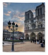 Notre Dame Cathedral Paris 2.0 Fleece Blanket